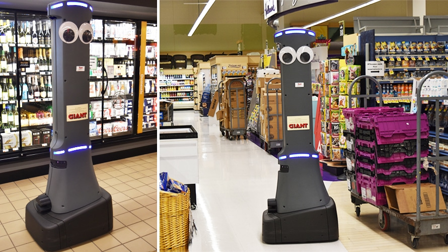Giant Grocery Stores Is Deploying Googly-Eyed Robots to Improve the Customer Experience
