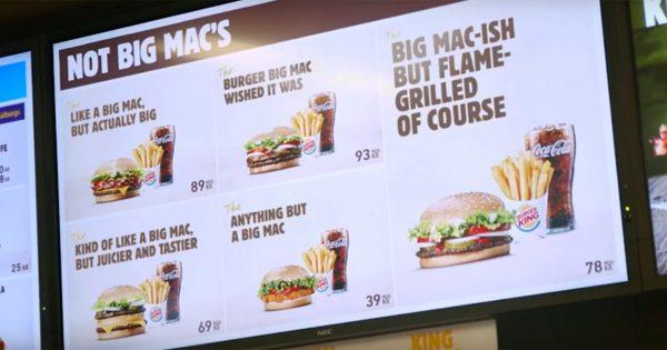 Burger King Trolls McDonald's Yet Again With an Entire Menu Mocking the Big Mac