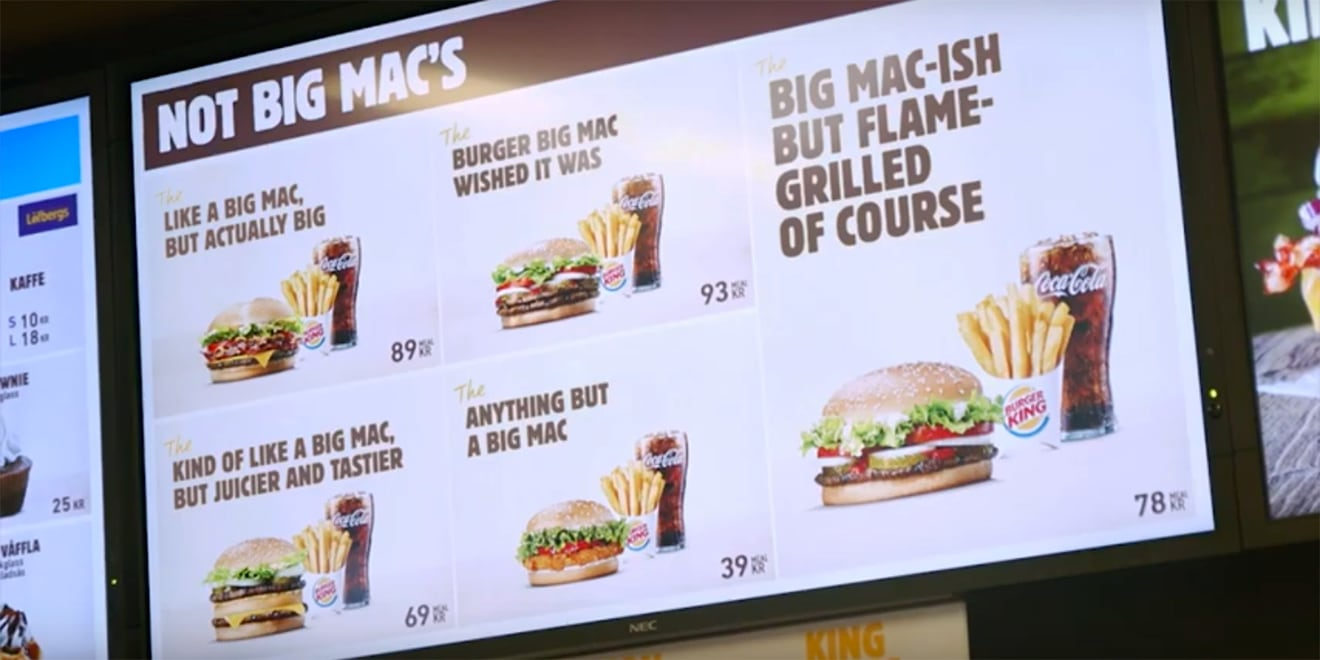 Burger King Trolls McDonald's Yet Again With an Entire Menu