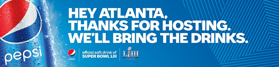 "cc4fc8e4375885 ""Super Bowl is one of our favorite times of the year and Pepsi will be in  full force in Atlanta—in stores, on billboards, on recycling bins and at  and ..."