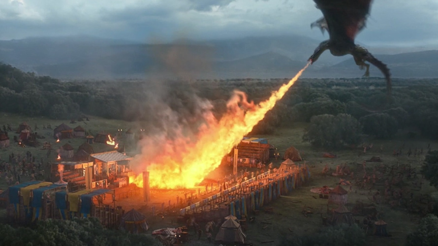 Game of Thrones Dragon Incinerates the Bud Knight in Super Bowl Ad