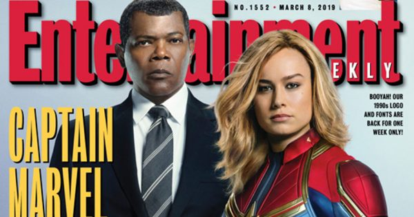 Entertainment Weekly Goes Retro, Throwing Back to Its '90s Fonts for Captain Marvel Cover