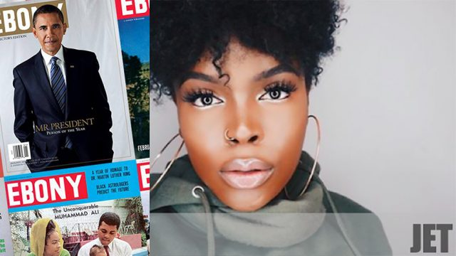 The cover of Ebony magazine