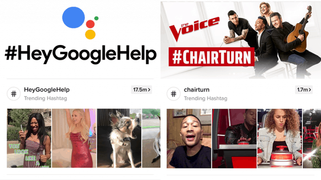 there is an image that says #GoogleHelp with images from TikTok below; also there is #chairturn with TikTok images under that