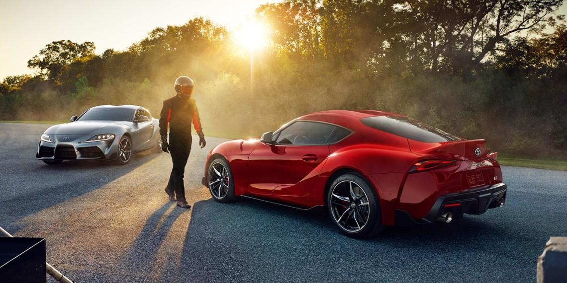 The 2020 Toyota Supra Shown In A Promotional Photo Will Be Featured Super Bowl Ad Themed Around Life Sized Pinball Machine