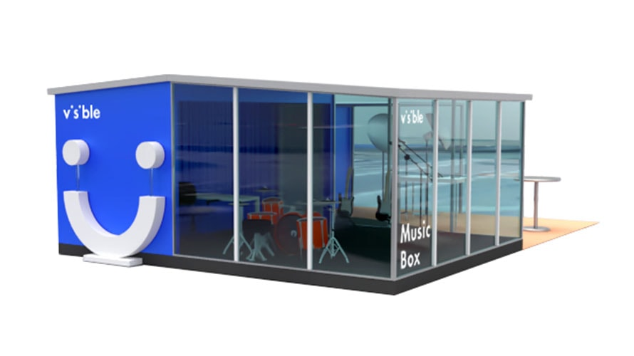 Visible Is Building a Transparent Music Box at SXSW Where You Can Record a Track