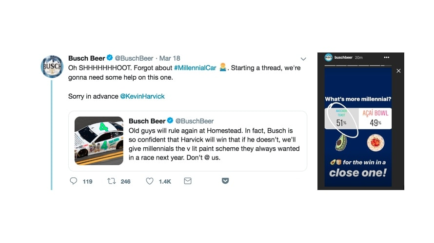 Fans Can Help Busch and Kevin Harvick Give Their Nascar Ride a Millennial-Inspired Paint Scheme