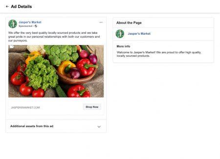 Facebook apporte plus d'informations et de transparence à sa bibliothèque d'annonces et à ses pages – Newstrotteur FBNonPoliticalAdDetails 450x325