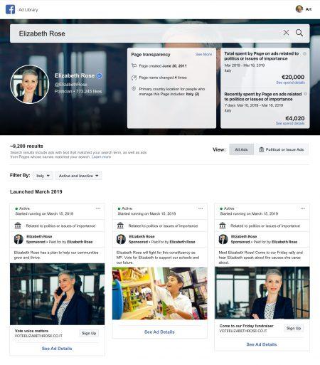 Facebook apporte plus d'informations et de transparence à sa bibliothèque d'annonces et à ses pages – Newstrotteur FBPoliticalPageTransparency 450x513