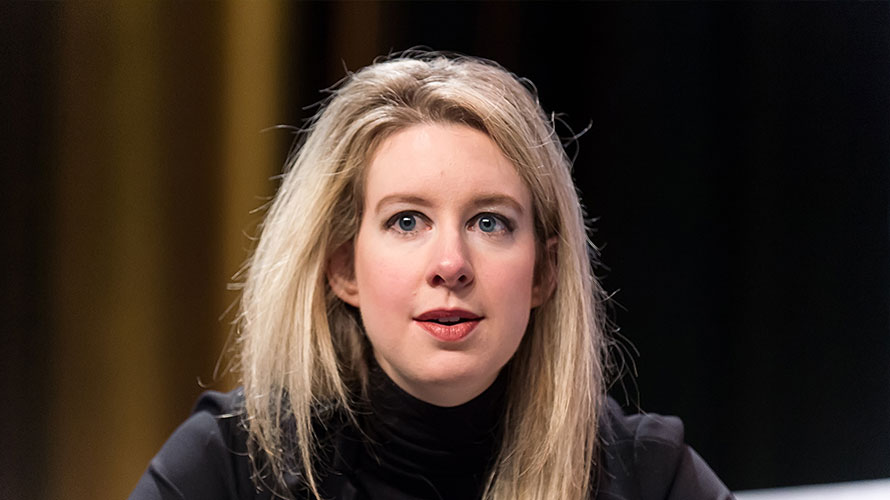 a picture of Elizabeth Holmes in a black turtleneck