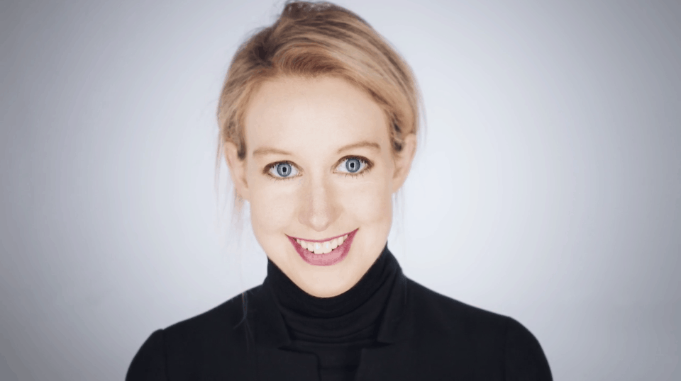 Elizabeth Holmes, former CEO of Theranos
