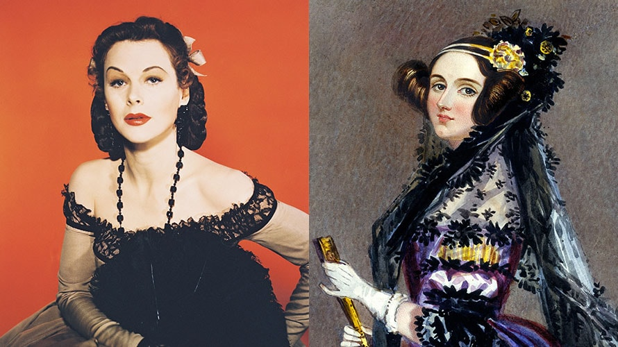 two images; the image on the left depicts a women posing in a black dress; on the right poses a women in a elaborate gown, she looks like a queen