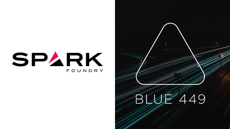 Spark Foundry and Blue 449 logos side by side