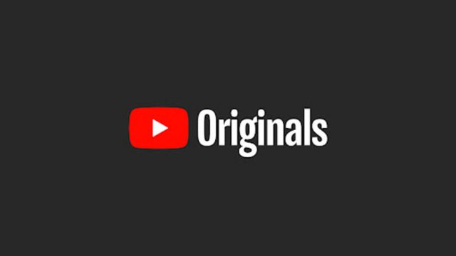 On the left is the YouTube logo; on the right in white letters is the word 'Originals'; black background