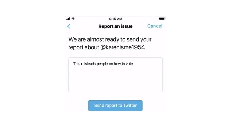 Twitter Is Adding a Dedicated Reporting Option for Content Aimed at Misleading Voters