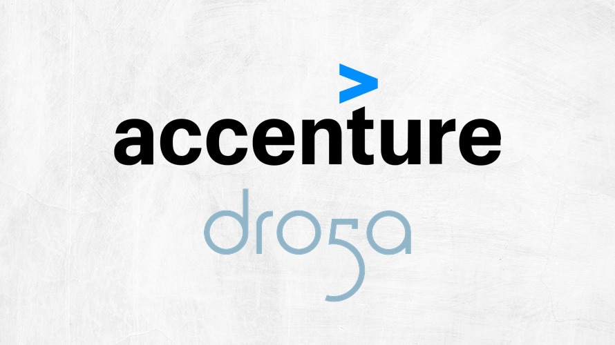 an accenture Dro5a logo