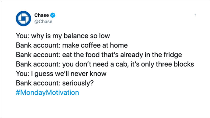 Chase Fails to Read the Room, Sparks Backlash With Snarky Tweet