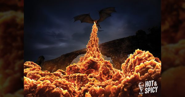 KFC's Award-Winning Ads, Using Spicy Fried Chicken as Flames, Return for Game of Thrones