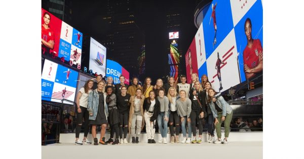 Nike Took Over Times Square to Salute the U.S. Women's National Team