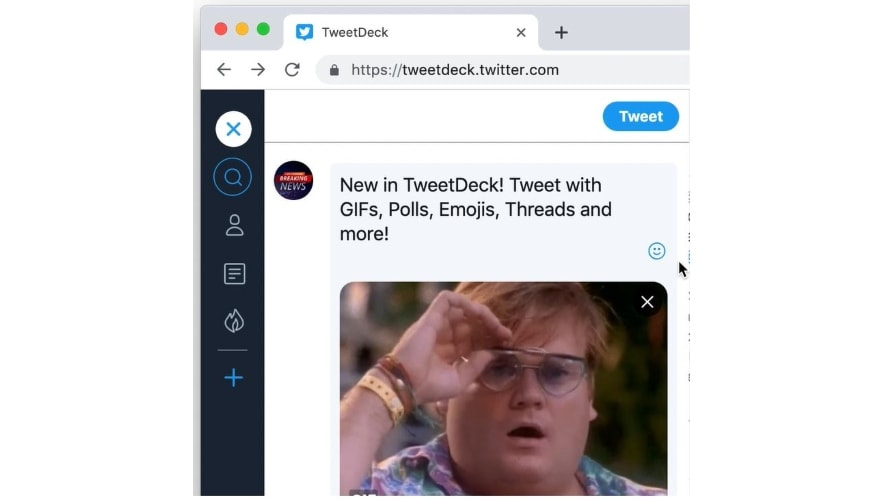 Twitter Added GIFs, Emojis, Polls, Threads and Image Tagging to TweetDeck