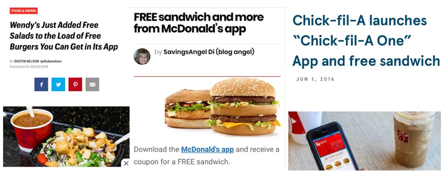 he images show three different news websites describing what the Whopper Challenge is.