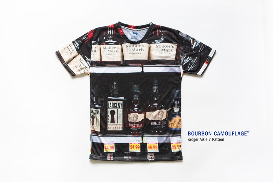 An image of the bourbon camouflage shirt is shown.