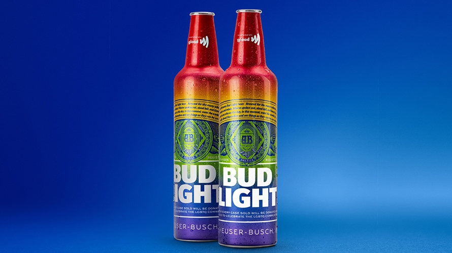 Bud Light Is Debuting a Rainbow Bottle This Weekend in Support of LGBTQ Pride