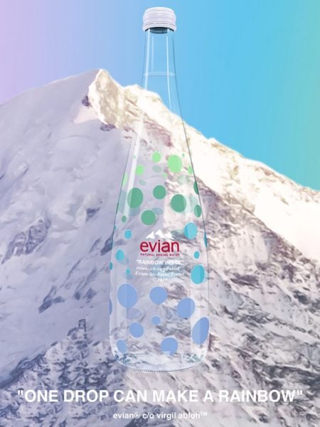 ad9b19a30d The glass, limited-edition bottle from Evian is available at select  retailers.