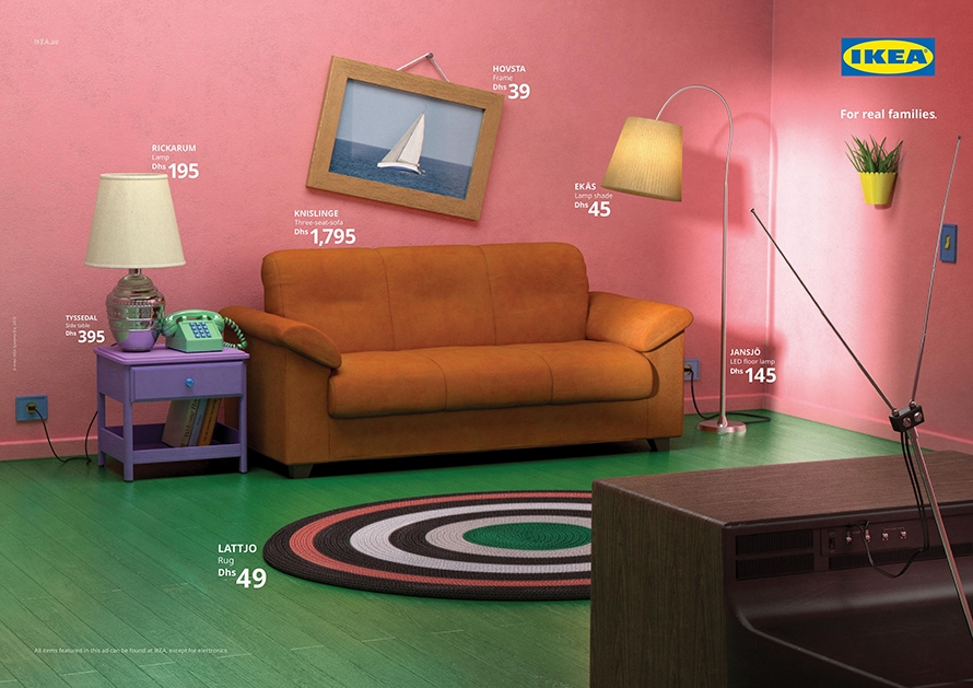 Ikea used its furnishings to recreate the living room from The Simpsons.