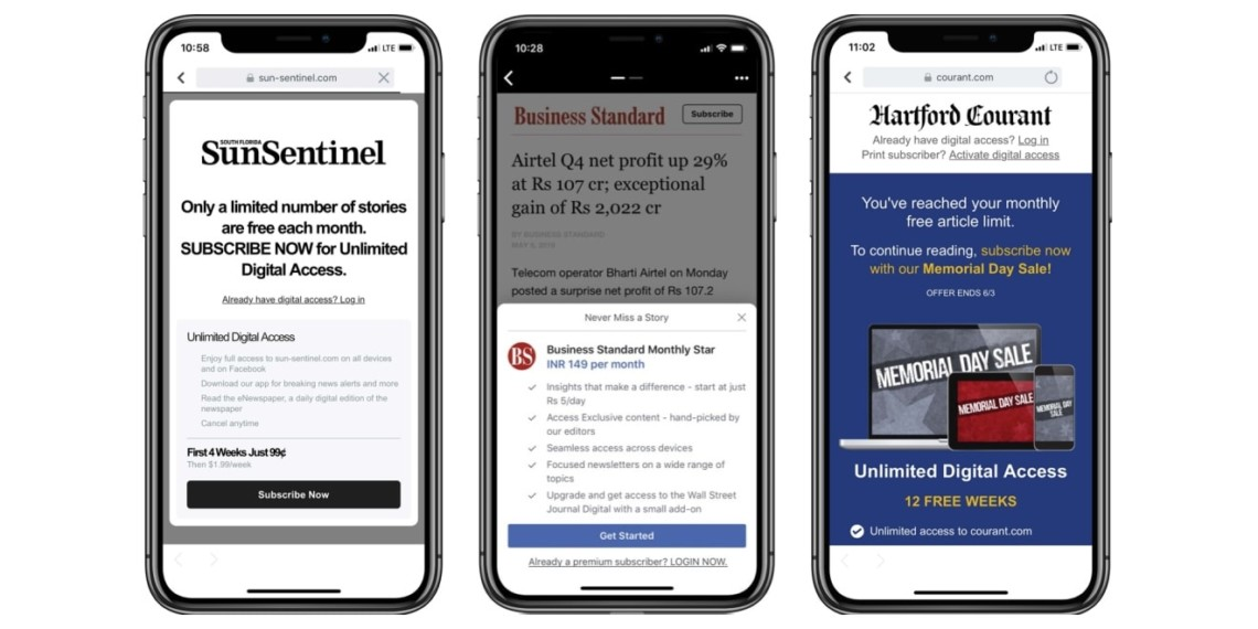 Subscriptions in Instant Articles Are Now Available to All Eligible Publishers on Facebook