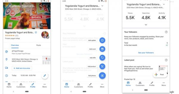 Profiles on Google My Business Are Undergoing a Makeover