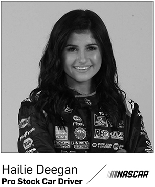 Hailie Deegan, stock car driver in Nascar