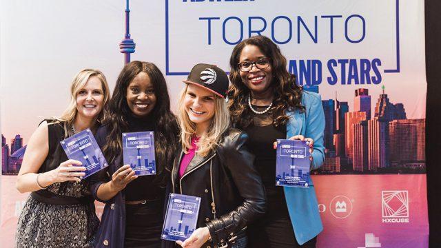 2019 Adweek Brand Stars of Toronto honorees Laura Pearce, Takara Small, Michele Romanow, Claudette McGowan