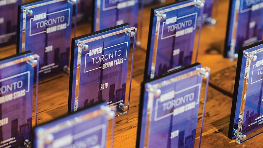 2019 Adweek Toronto Brand Stars trophies