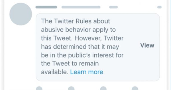 Twitter Is Placing a New Notice Atop Political Tweets That Violate Its Policies