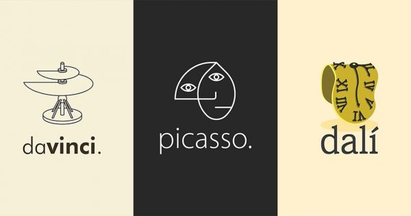 A Designer Tried Creating Logos for Eight of History's Greatest Artists