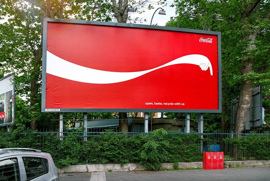In a Subtly Delightful Twist by Coca-Cola, These Outdoor Ads Point