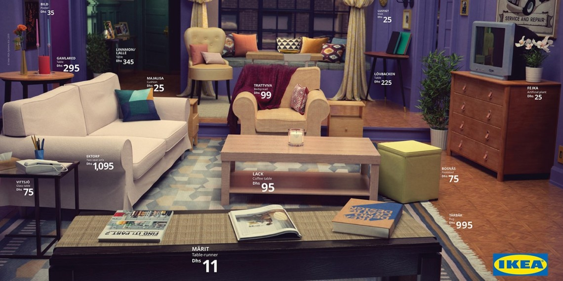 Publicis Spain Recreated The Friends Living Room As Part Of Its Ikea Real Life Series
