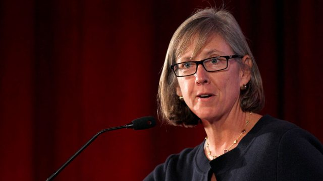 Photo of Mary Meeker for story about her research report