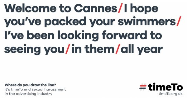 A Global Campaign Against Sexual Harassment Will Await Cannes Goers at the Airport