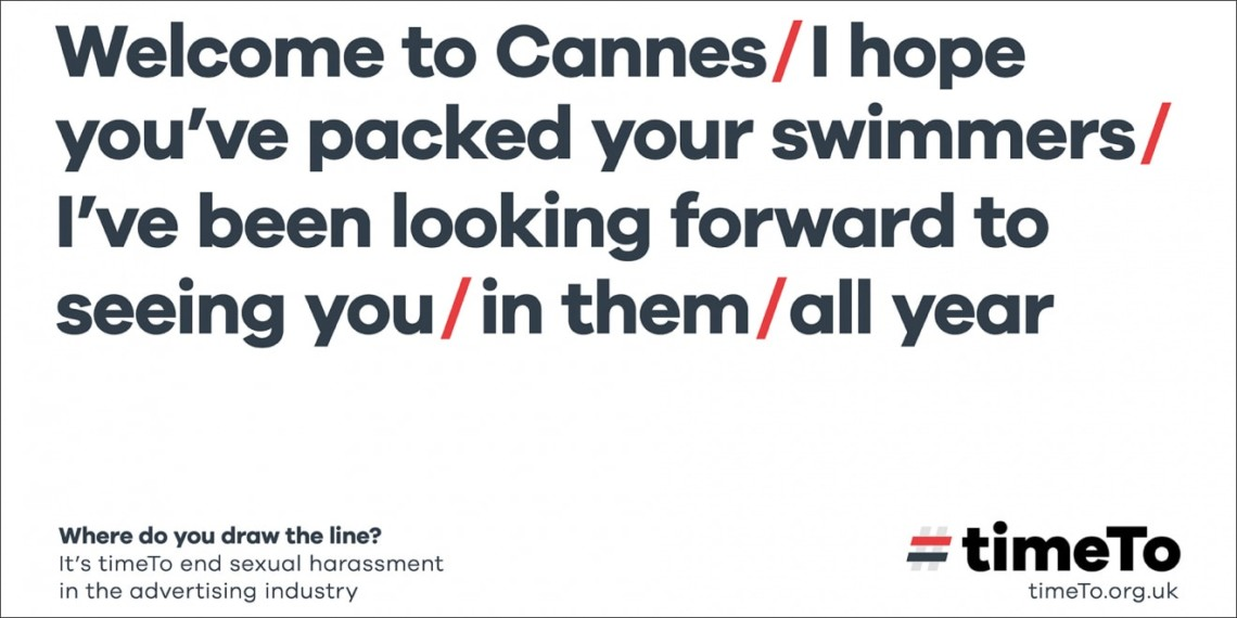 A #timeTo ad from Cannes 2019