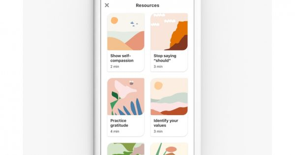 Pinterest Is Adding Well-Being Activities for Its Users