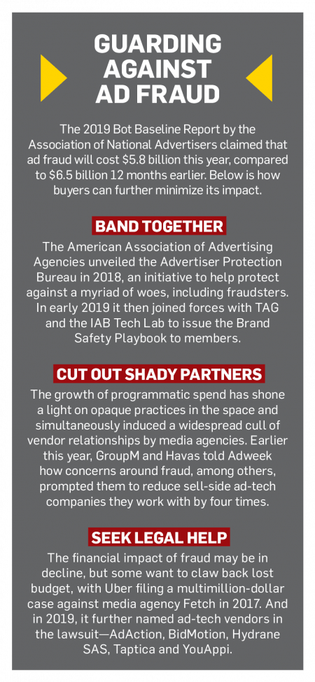 A sidebar of data about ad fraud and steps being taken to deal with it.