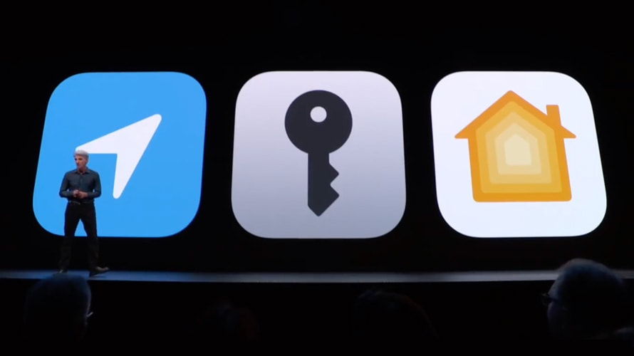 A Facebook Messenger with a person standing in front of it on the left, a key icon in the middle, and a yellow house icon on the right.