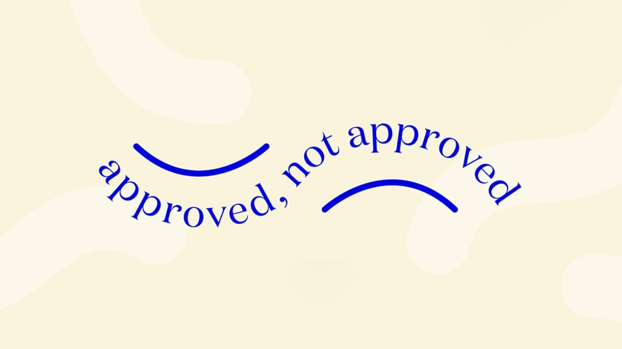 "The ""Approved, Not Approved"" campaign from Dame and Unbound"