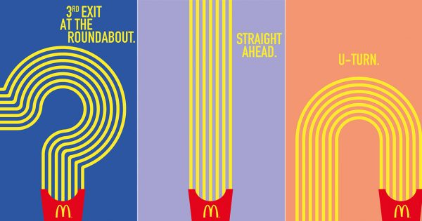 McDonald's Uses Its Fries to Guide You to the Nearest Location in These Fun Ads