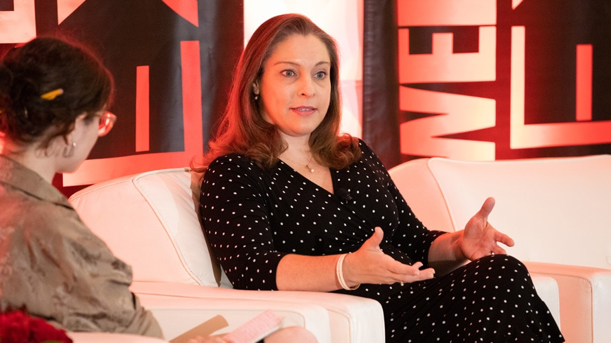 Rachel Nyswander Thomas speaking at Adweek Nextech 2019