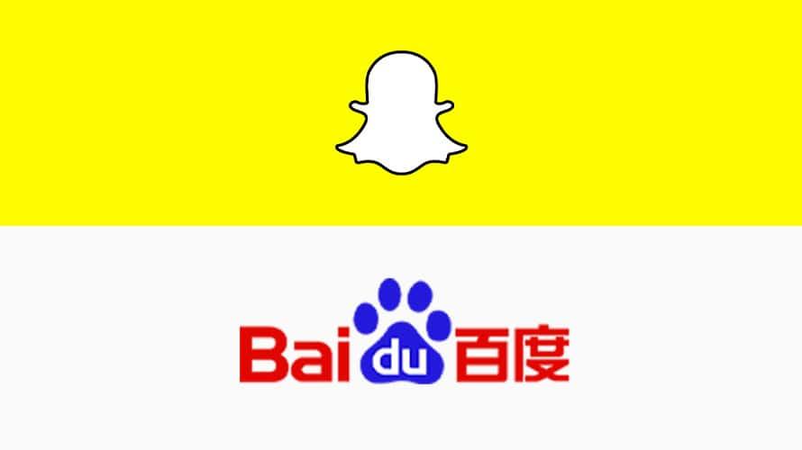 Snapchat and Baidu logos
