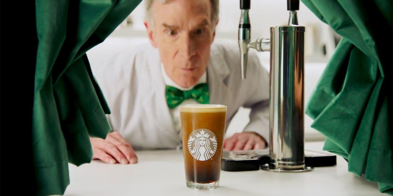 bill nye starbucks nitro cold brew ad campaign