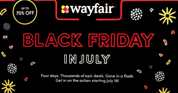 Wayfair Quietly Emerges After Migrant Camp Scandal with Black Friday in July Promo